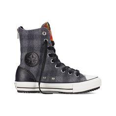 36a581ee0cf2 Converse Women s Chuck Taylor All Star Woolrich Hi-Rise Boot