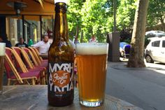 Bière de garde: a traveller's guide to beer in France: Paris brewery La Goutte d'Or's Myrha pale ale, hoppy goodness for a sunny terrace. Image by Megan Eaves / Lonely Planet