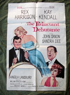 1958 Movie Poster,,  The Reluctant Debutante,   Rex Harrison, Kay Kendell, Sandra Dee, ORIGINAL Movie Poster
