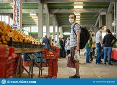 Man Wearing A Medical Mask To Prevent Covid-19 During Grocery Bazaar Shopping Editorial Stock Image - Image of local, medical: 183751679 Editorial, Menswear, Medical, Image, How To Wear, Shopping, Medicine, Men Wear, Men's Clothing