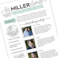 Family Newsletter Template by Jamie Schultz Designs