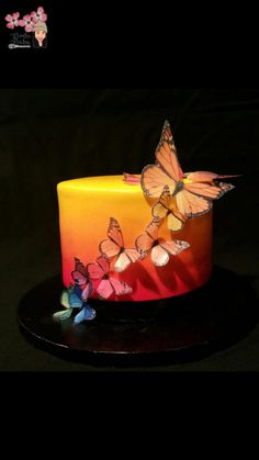 Butterfly Sunset - cake by Shanita