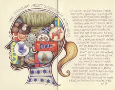 she's in my head by andrea joseph's illustrations, via Flickr