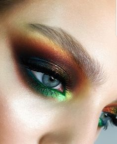 Eyeshadow color combination art makeup aesthetics