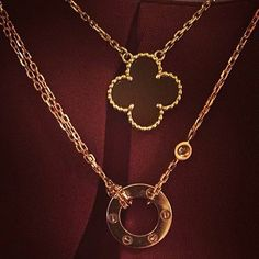 Methodical 18k Gold Plate Silver Vca Pink Flower Clover Vintage Alhambra Necklace Us Ship Jewelry & Watches Necklaces & Pendants