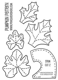 jpg OOooo to go with the pumpkin pattern I have!leaves and stems for pumpkin patternRisultati immagini per material pumpkin stemsSee Best Photos of Printable Pumpkin Leaves. Ivy Leaf Clip Art Pumpkin Printable Coloring Pages Printable Leaf Pattern Te Felt Crafts, Fabric Crafts, Sewing Crafts, Sewing Projects, Felt Patterns, Applique Patterns, Sewing Patterns, Loom Patterns, Fabric Patterns