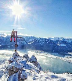 Now this man got the very best view of Salzburg Land! Coffee Instagram, Instagram Posts, Salzburg, This Man, Nice View, Winter Wonderland, Austria, Wanderlust, Mountains