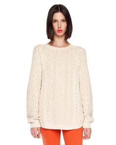 T564V MICHAEL Michael Kors  Crewneck Sweater...looks like the perfect comfy sweater