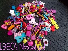 Plastic charms & necklaces from the 80's! Man, this was one of my favorite things from the 80's!