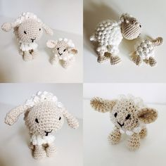 Schaap en schaapje Haken Crochet Sheep and little sheep