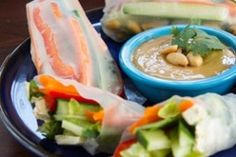Veggie Summer Rolls with Spicy Peanut Lime Sauce: Two Ways