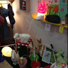 Paris boutique.  <3 the rabbit lamp!