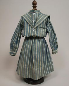 Antique Doll Yachting Costume Circa 1890s