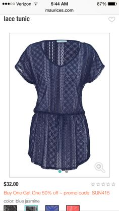 Tunic! Great for skinny jeans or leggings. Like the lacy look. Maybe a different color?