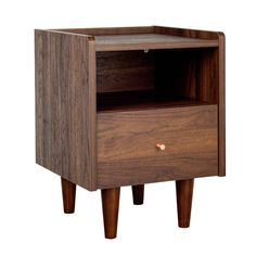 Buy Argos Home Lola 2 Bedside Tables Set - Walnut Effect | Bedside tables | Argos Walnut Bedside Table, Pair Of Bedside Tables, Touch Table Lamps, Grey Table Lamps, Furniture Packages, Furniture Sets, Retro Chic, Argos, Beautiful Bedrooms