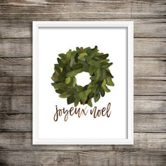 Joyeux Noel - Watercolor Digital Printable