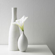 Corduroy Paintable White Wallpaper