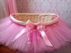 Cute baby shower basket