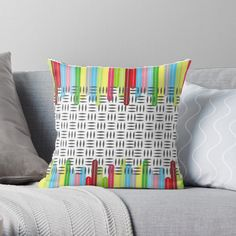 'stay' Throw Pillow by Table Coasters, Scatter Cushions, Free Stickers, Designer Throw Pillows, Abstract Print, Pillow Design, Print Design, Vibrant, Art Prints