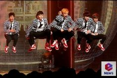 BTS casually sitting there in mid air~