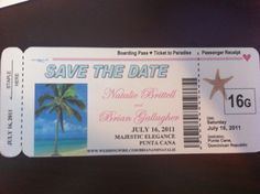 Save the date for a destination wedding