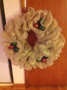 Deco-Mesh Christmas Wreath