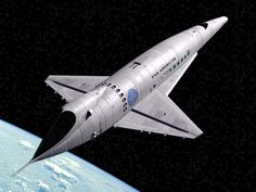 Orion III spaceplane in Pan Am livery, 2001.