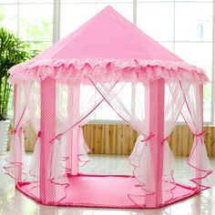 6a4c32104a14 Amazon.com: SkyeyArc Princess Playhouse with Lace, Pink Tent, Princess  Castle Play Tent, Castle Playhouse, Kids Tents, Great for Kids: Toys & Games