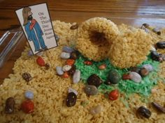 Easter Rice Krispy Tomb Cake Recipe.