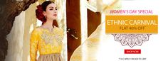 Women's Day special offers 40% off on Ethnic wear Styletag.com