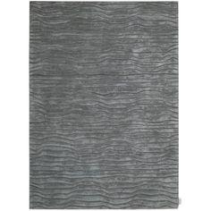 Wayfair---Calvin Klein Home Rug Collection Canyon Hand-Woven Gray Area Rug