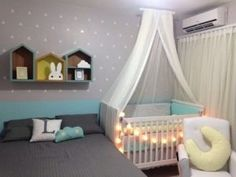 Smart nursery ideas sharing a room with baby nursery ideas apartment nursery baby bedroom and parents Baby Bedroom, Baby Room Decor, One Bedroom, Kids Bedroom, Apartment Nursery, Nursery Room, Nursery Ideas, Guest Room And Nursery Combo, Room Ideas