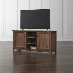 "Ainsworth Walnut 64"" Media Console with Glass/Wood Doors 