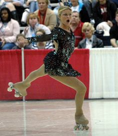 2004 world champion Tanja Romano of Italy competing in the Women's Free Skating event at the November 2004 Artistic Roller Skating World Championships in Fresno, California USA.