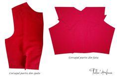 Corsajul partii din fata si din spate Little Red Dress, Peplum, Tops, Dresses, Women, Fashion, Vestidos, Moda, Fashion Styles