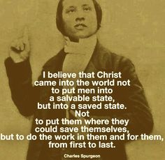 Christ came to save - Spurgeon
