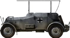 Sd.Kfz.14: Command vehicle - Balkans - March 1941. The unarmed version, Funkkraftwagen (Kfz. 14), was fitted with a large bed-frame antenna and long range radio device. 40 were built in parallel to the regular model. They were used in the campaign in Poland and in the Western campaign in 1940. By 1941, they were retired from active service, and only used for training purposes.