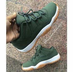 quality design 618bd f1e40 Jordan 11s custom matte green Mens Shoes Jordans, Men S Shoes, Jordan Shoes  For