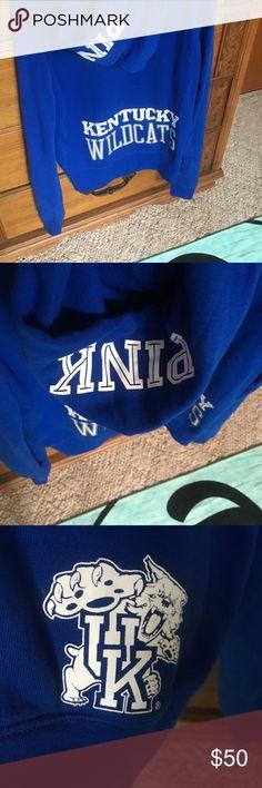 Pink Kentucky wildcats hoodie Nwt Size small PINK Victoria's Secret Tops Sweatshirts & Hoodies