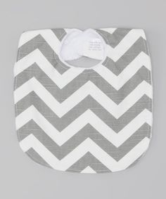 Look at this #zulilyfind! Caught Ya Lookin' Gray & White Zigzag Bib by Caught Ya Lookin' #zulilyfinds