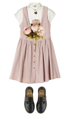 """Mary Jane"" by desabite ❤ liked on Polyvore featuring Vero Moda, Roberto Coin and Dr. Martens"