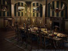 Sleepy Hollow. Dining room by kidy-kat.deviantart.com on @DeviantArt