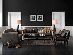 Tämän olohuoneen hillityn arvokas ilme syntyy persoonallisen tyylikkäällä ja harmonisella sisustuksella.  Klikkaa kuvaa, niin näet tarkemmat tiedot!