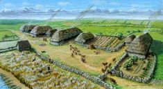 recreation of medieval Cornish village. Not too dissimilar to the Dark Age equivalent.