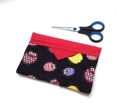 Small homemade Owl Bag Snappy Clutch bag Owl by AlsCraftyCorner
