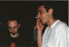 H.I.U 7° edizione Milano 18, 19, 20 Maggio 2001 Leoncavallo Nella foto Gianluca Costantini e Maurizio Ribichini