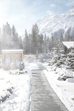 the thermal bath circuit is the winter routine we can really get behind. Sauna Design, Canada Travel, Spas, Circuit, Repeat, Routine, Bath, Cold, Winter