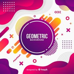 Colorful abstract background with flat design Vector | Free Download