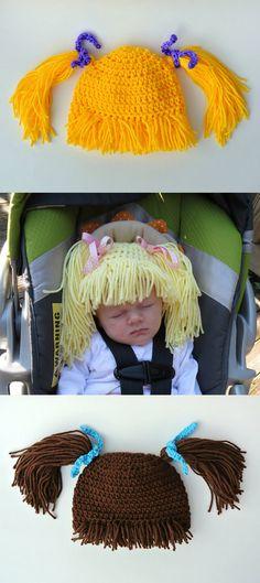 Crochet Babies Funny Hat