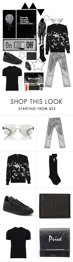 """""""In da club"""" by marcusv ❤ liked on Polyvore featuring Prada Sport, Vers, Christian Dior, Givenchy, Y-3, Neil Barrett, Dolce&Gabbana, Privé, Gucci and men's fashion"""